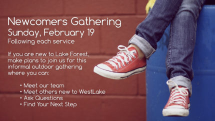 LFC-WestLake Newcomers Gathering